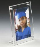 Design Slant-Back acrílico transparente, Picture Frame 5x7 polegadas