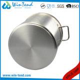 Un acciaio inossidabile di 04 stili ha smerigliato lo Stockpot dell'alimento del vapore della parte inferiore di legame di effetto di conduzione di calore
