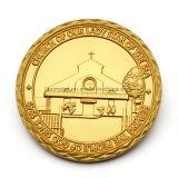 Pièce d'or de souvenir de religion et en argent faite sur commande