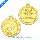 Medaglia su ordinazione del metallo dell'oro su ordinazione poco costoso per il ricordo