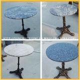 De alta calidad de hierro fundido pulido de muebles de piedra natural Mesa redonda de mesa de café