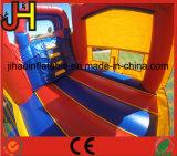 Castelo inflável do salto do sequaz do tema dos desenhos animados corrediça de água combinado do grande