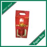 Zwei Paare gewölbte Karton-Papier-Geschenk-Kasten-mit Griff