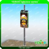 Street Outdoor Double Side LED Light Box no poste da lâmpada