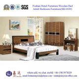 Mobília de couro do quarto do hotel de luxo da base do plutônio (702A#)