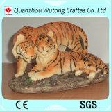 Statua animale fortunata della tigre del mestiere della resina della decorazione dell'ufficio