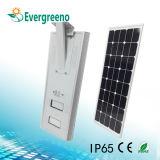 60W à LED intégrée de la rue lumière solaire de jardin