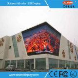 Tela fixa do anúncio ao ar livre de cor cheia da instalação P8