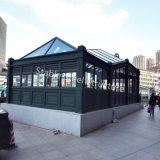 Parti della struttura d'acciaio della metropolitana con l'alta qualità