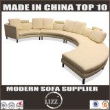 Projetos de couro italianos modernos em forma de u novos do sofá para a sala de visitas