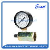 크롬 도금을 한 Mout를 가진 측정하 특별한 부르동 관 압력계를 시험하는 공기