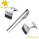 Gemelli dell'acciaio inossidabile Tieclip-018 ed insieme della clip di legame