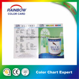 Cmyk Full Color Custom Folded Glossy Paint Card