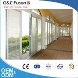 Grande porte de pliage en aluminium d'entrée de porte de pliage d'OEM