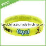 Impression de logo personnalisé sur bracelet en silicone