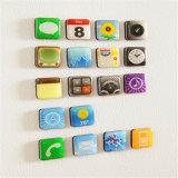 Scintillio fluorescente dell'autoadesivo di arte della bandierina del magnete del frigorifero del silicone personalizzato regalo promozionale