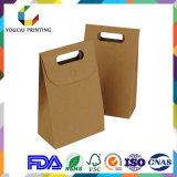 Het Vakje van het Document van Kraftpapier van de wijd Gebruikte & Lagere Prijs met Handvat