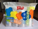 Machine d'emballage de comptage de tasses en plastique à quatre lignes