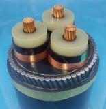 fio de aço isolado XLPE de cobre de cabo distribuidor de corrente 0.6/1kv blindado