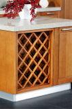 Gabinete de cozinha novo do folheado da madeira contínua do estilo moderno