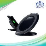 El soporte de carga sin hilos de la carga rápida blanca negra de Samsung para Qi permitió los dispositivos
