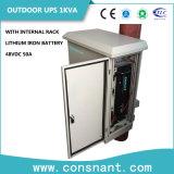 UPS en línea exterior IP55 1kVA con hierro de la batería de litio de 50 a 48 VDC