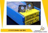 Pieza inserta que muele de Korloy Ccgt120404-Ak H01 para la pieza inserta del carburo de la herramienta que muele