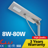 Cool White 80W Integrated Garden Solar Street Light