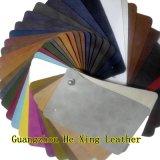 Couro de couro gravado do falso do PVC para o sofá, Furntiture