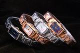 reloj del cuarzo del acero inoxidable 316L para la mujer y la señora