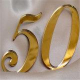 Espejo de acrílico de oro para cosméticos y decoración del hogar