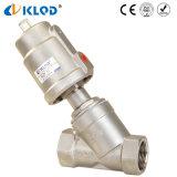 Valvola di angolo bidirezionale di gestione pistone dell'acciaio inossidabile di prezzi bassi Dn40