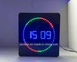 Orologio del LED con la circonduzione dell'indicatore del LED secondo - figura quadrata