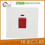 interruttore rosso della parete del pulsante del condizionatore d'aria bianco del PC 45A