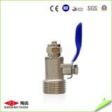 Válvula de bola de 3/8 pulgadas del metal para el sistema de ósmosis inversa de piezas de repuesto