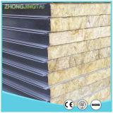 el panel de emparedado de acero del panel/del color de emparedado de 50-150m m Rockwool como nuevos materiales de Bulding