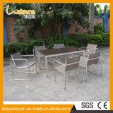 معدنة [ستينلسّ ستيل] [ألومينومّ] شرفة ساحة مقهى وقت فراغ خارجيّة يتعشّى أثاث لازم [ب] [رتّن] طاولة وكرسي تثبيت
