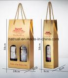 La insignia de encargo imprimió los rectángulos de empaquetado del vino acanalado con la pieza inserta de la seguridad