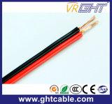 Flexible Negro Rojo aislados con PVC, Cable de altavoz