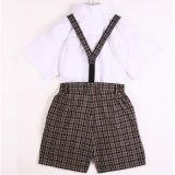 Camicia del Bianco-Cotone di estate 100%Cotton e uniforme scolastico dei capretti dei pantaloni