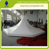 Vendas quente revestido em PVC branco Tarp para tenda