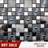 Картина Balck ветрянки и мозаика белого металла смешивают кристаллический стекло