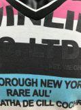 La teinture de filé a barré le T-shirt pour les hommes avec l'impression de bande