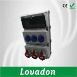Cadre de distribution combiné électrique imperméable à l'eau de voie du plot 12 de fiche d'industrie de boîte de jonction de PC en plastique de l'industrie IP65
