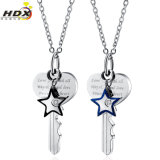 Factory Wholesale Love Symbol Fashion Collier pendentif en acier inoxydable