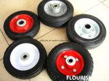 Rotella di gomma solida della polvere da 8 pollici per i carrelli del vagone