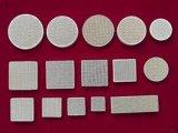 Panal de cerámica y soporte de catalizador monolito