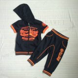 Toddlers Boy Sport Tracksuits Wear with Hood in Outdoor Kids Sq-6238