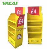 Relojes de piso cartón mostrar con la base de la bandeja del MOP para proteger contra la humedad, expositor de cartón ondulado personalizado