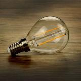 Bulbo claro del vidrio 3000k 4W G45 E27 LED con Dimmable